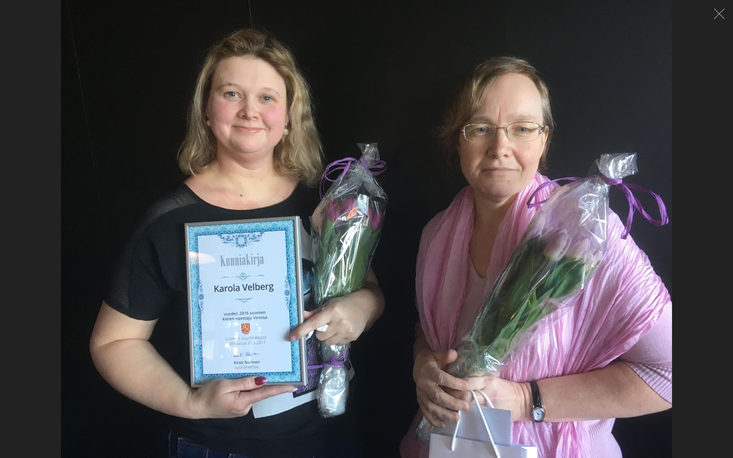 Karola Velberg on aasta soome keele õpetaja 2016