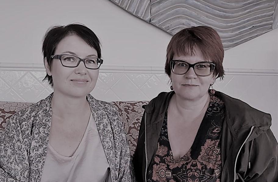 Kirjanik Mia Kankimäki ja loo autor Piret Kooli. Foto: Soome Instituut