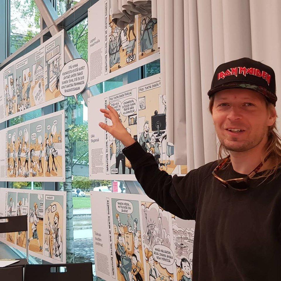 Vabamus avati koomiksinäitus Soomes elavatest eestlastest