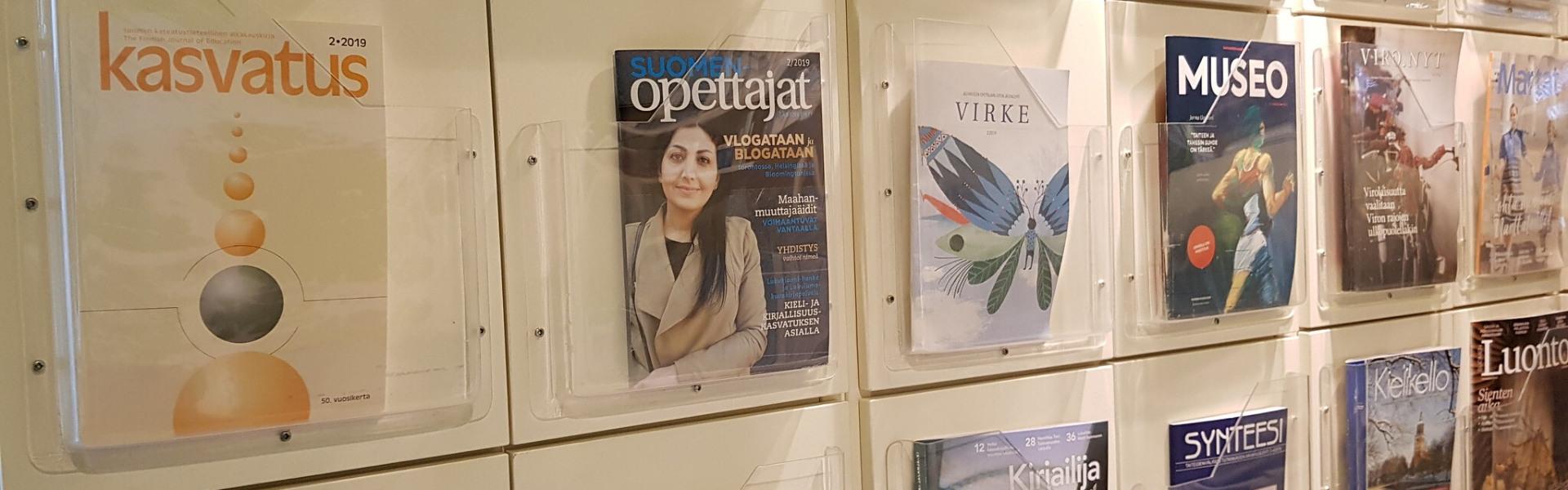 ajakirjad raamatukogu lugemissaalis