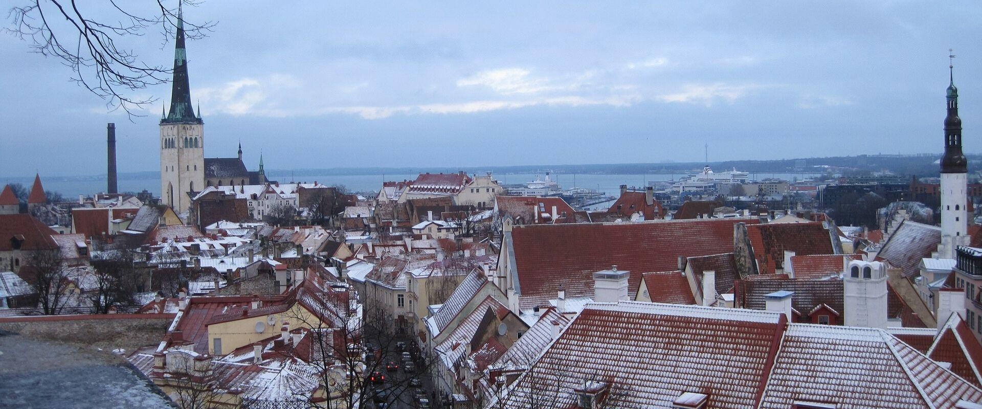 Talvine Tallinn, vanalinna katused