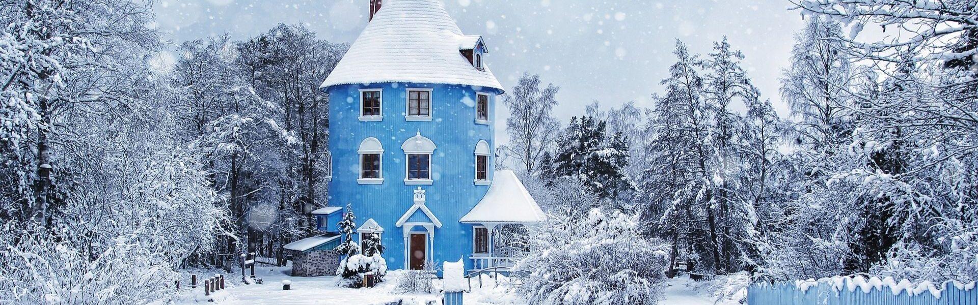 Muumide maja talvel Naantalis