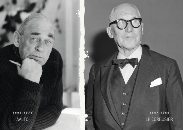 Kaasaaegsed Alvar Aalto ja Le Corbusier Le Corbusier