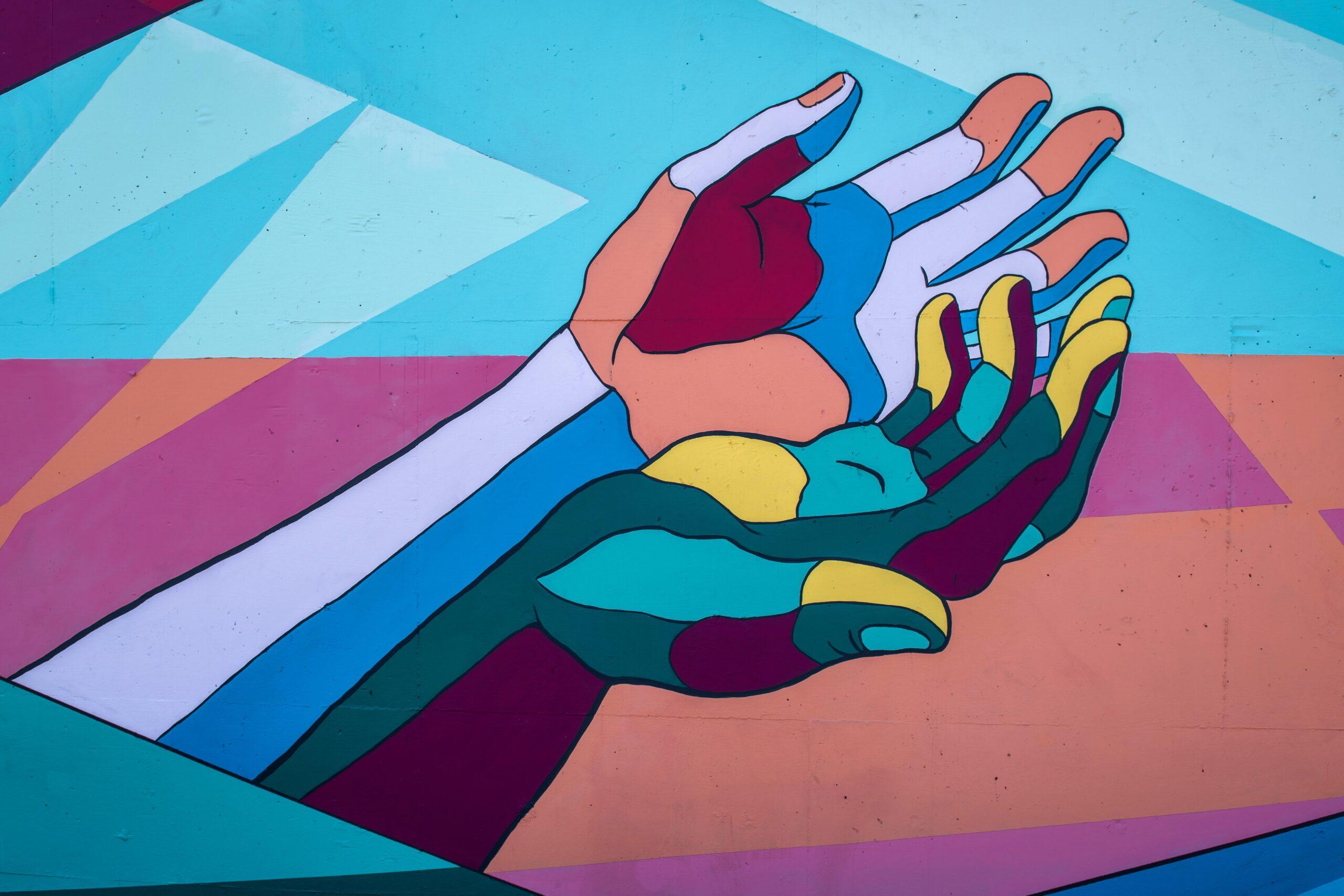 kaks kätt, maalitud